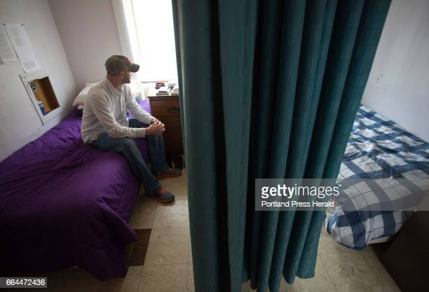 Rob Gay of Gardiner looks out the window in his room at Milestone's residential treatment program in Old Orchard Beach This is the first longterm...