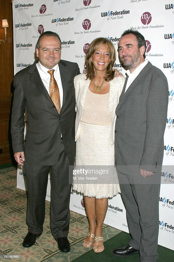 Rob Glaser, Denise Rich, David Munns during UJA Federation of NY/Music for Youth Foundation fundraiser at Pierre Ballroom in New York, New York, United States.