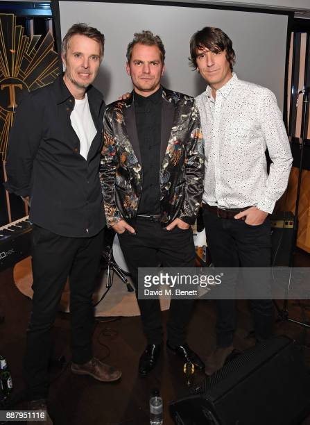 Rob Green Joseph Washbourn and Dan Hipgrave attend the Tempus Magazine annual Christmas Party at The Rumpus Room Mondrian Hotel on December 7 2017 in...