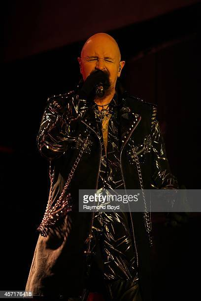 Rob Halford from Judas Priest performs during the 'Louder Than Life' Music Festival in Champions Park on October 04 2014 in Louisville Kentucky