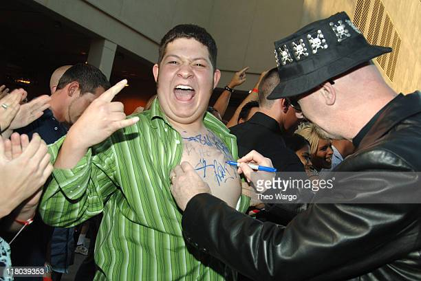 Rob Halford of Judas Priest and fans during 2006 VH1 Rock Honors Arrivals at Mandalay Bay Hotel and Casino in Las Vegas Nevada United States