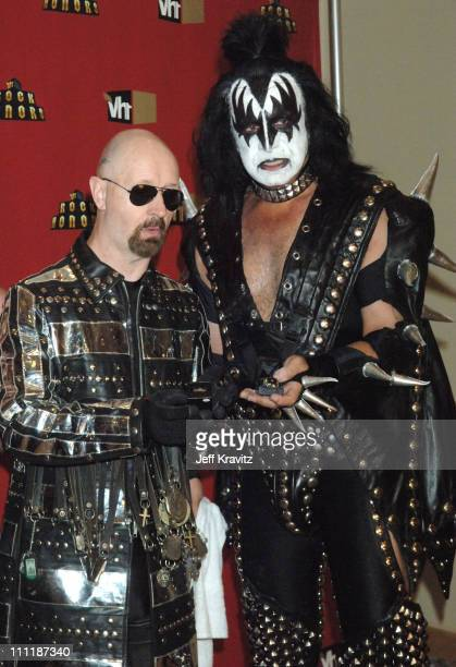 Rob Halford of Judas Priest and Gene Simmons of KISS