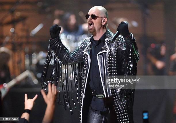Rob Halford of Judas Priest during 2006 VH1 Rock Honors Show at Mandalay Bay Hotel and Casino in Las Vegas Nevada United States