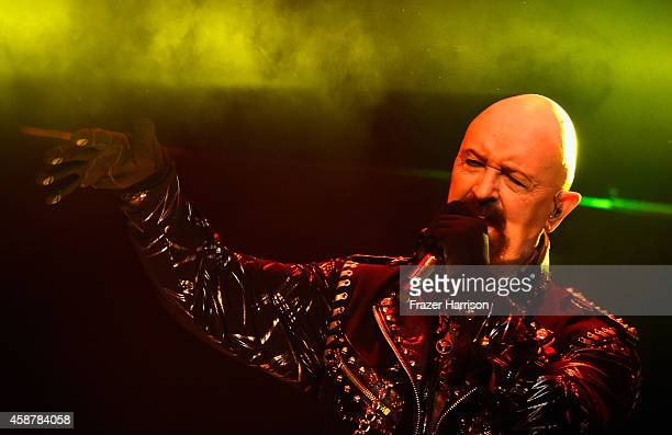 Rob Halford of Judas Priest perform at the Nokia Theatre LA Live at Nokia Theatre LA Live on November 10 2014 in Los Angeles California