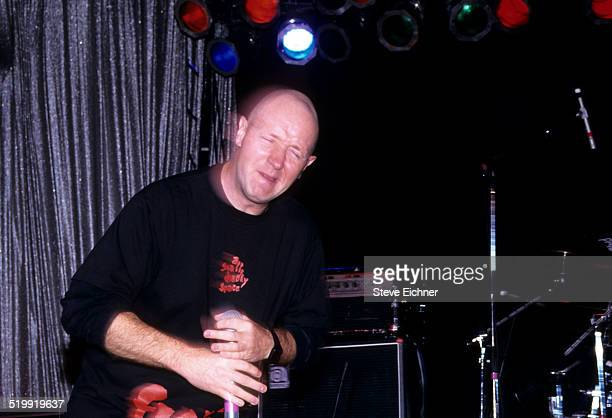 Rob Halford of Judas Priest performs California March 12 1995