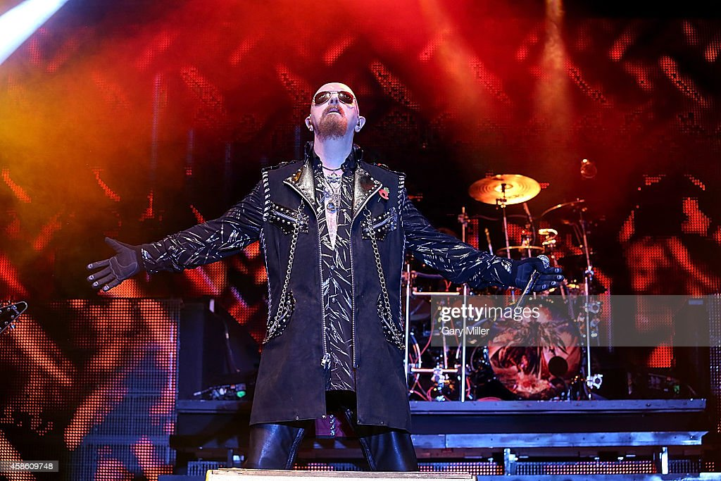 Rob Halford of Judas Priest performs during Day 1 of Fun Fun Fun Fest at Auditorium Shores on November 7, 2014 in Austin, Texas.
