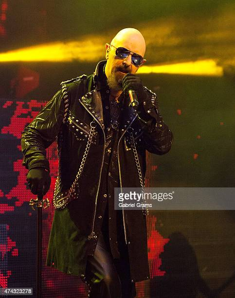 Rob Halford of Judas Priest performs in concert at Rosemont Theatre on May 21 2015 in Chicago Illinois