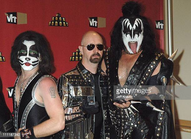 Rob Halford of Judas Priest with Eric Singer and Gene Simmons of KISS
