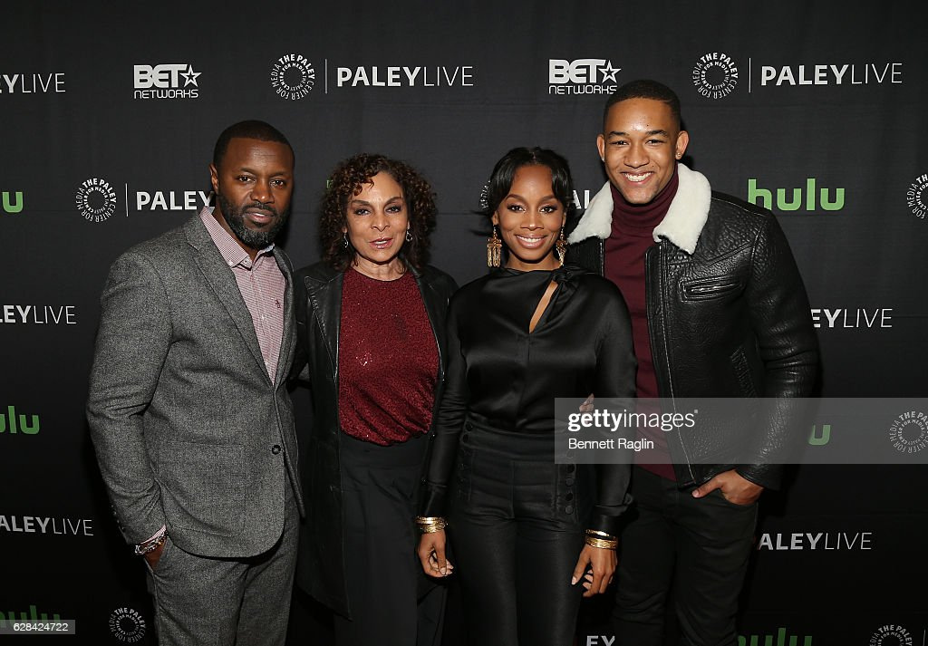 Rob Hardy, Jasmine Guy, Anika Noni Rose, and Peyton Alex Smith attend BET Presents 'An Evening With 'The Quad'' At The Paley Center on December 7, 2016 in New York City.