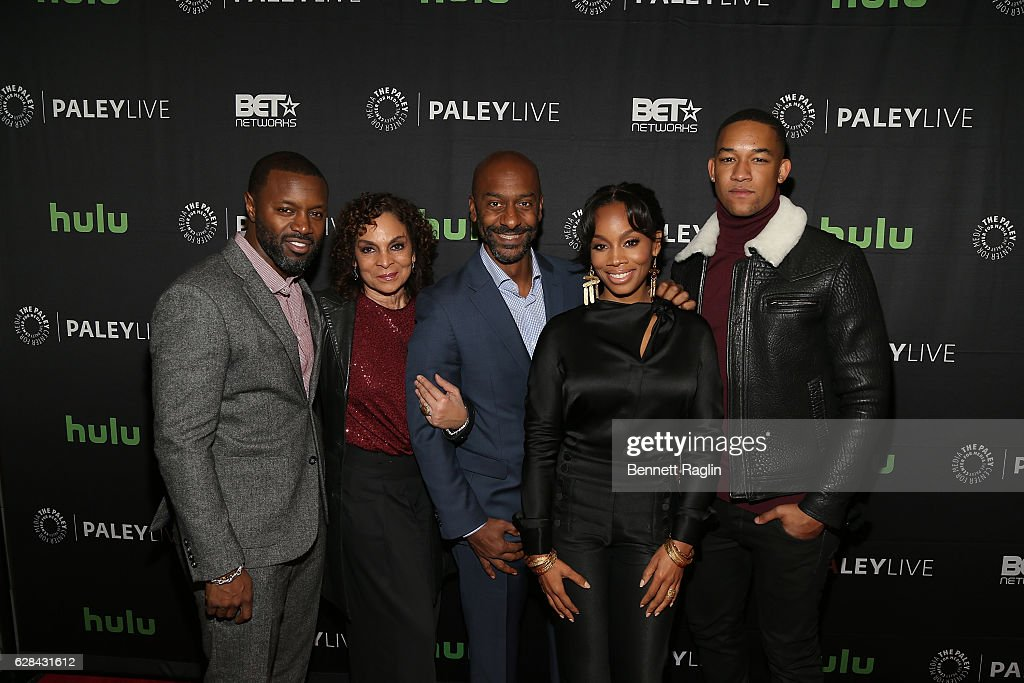 Rob Hardy, Jasmine Guy, Stephen Hill, Anika Noni Rose, and Peyton Alex Smith attend BET Presents 'An Evening With 'The Quad'' At The Paley Center on December 7, 2016 in New York City.