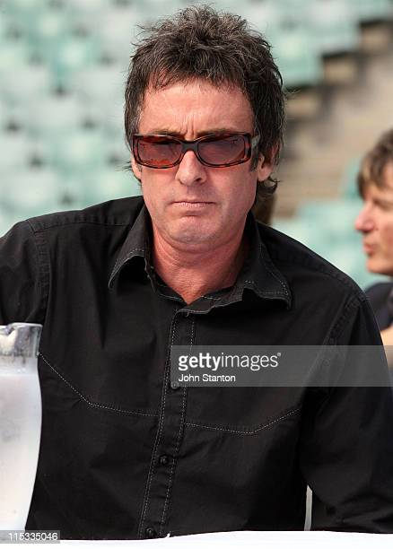 Rob Hirst of Midnight Oil during 'Live Earth' Concerts Sydney Press Call at Aussie Stadium in Sydney NSW Australia