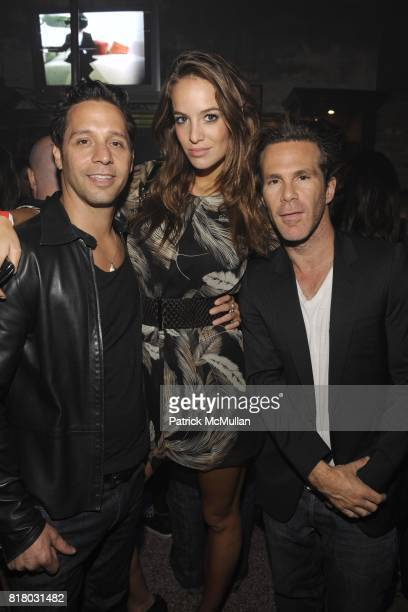 Rob Hoffman Jade Foret Scott Pill attend DeLeon Tequila presents 'The Nur Khan Sessions' with a performance by Hole at Don Hill's on September 11...