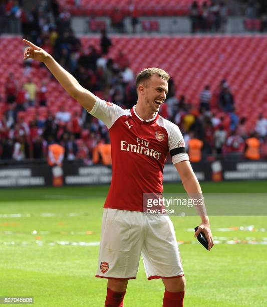 Rob Holding of Arsenal after the match between Chelsea and Arsenal at Wembley Stadium on August 6 2017 in London England