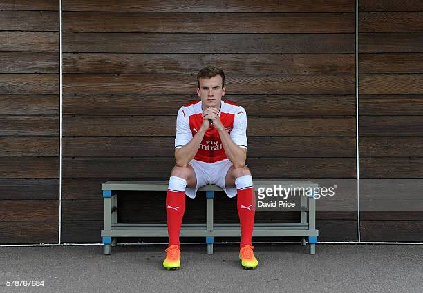 Rob Holding of Arsenal at London Colney on July 21 2016 in St Albans England
