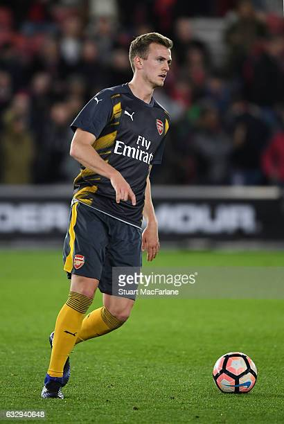 Rob Holding of Arsenal before the Emirates FA Cup Fourth Round match between Southampton and Arsenal at St Mary's Stadium on January 28 2017 in...