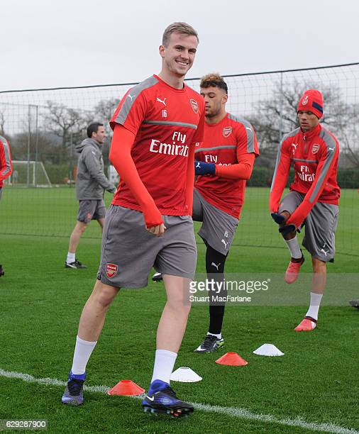Rob Holding of Arsenal during a training session at London Colney on December 12 2016 in St Albans England