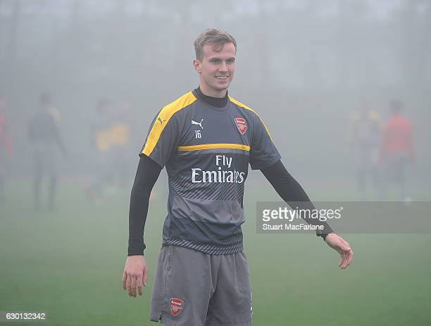 Rob Holding of Arsenal during a training session at London Colney on December 17 2016 in St Albans England