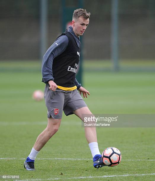 Rob Holding of Arsenal during a training session at London Colney on January 6 2017 in St Albans England
