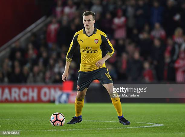 Rob Holding of Arsenal during the Emirates FA Cup Fourth Round match between Southampton and Arsenal at St Mary's Stadium on January 28 2017 in...