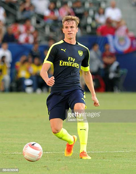 Rob Holding of Arsenal during the match between Arsenal and CD Guadalajara at StubHub Center on July 31 2016 in Carson California