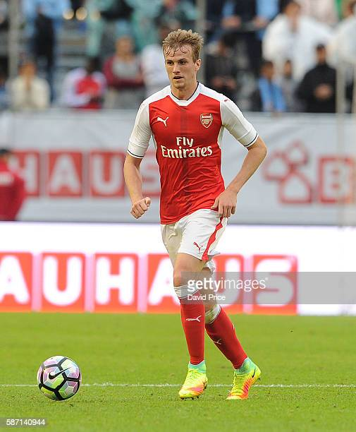 Rob Holding of Arsenal during the match between Arsenal and Manchester City at Ullevi on August 7 2016 in Gothenburg Sweden