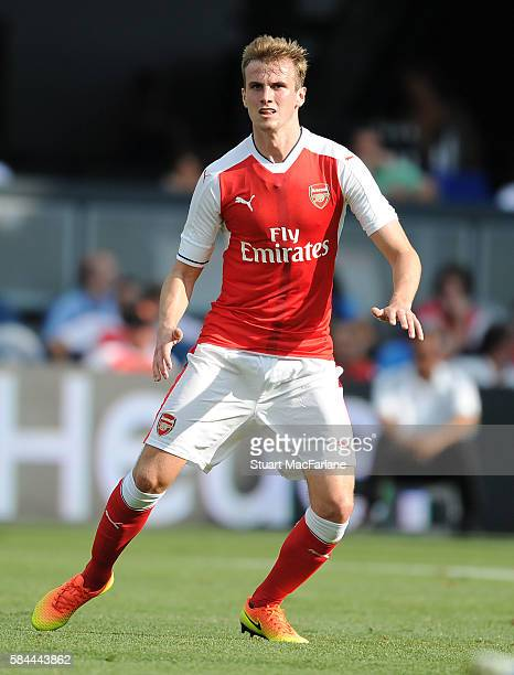 Rob Holding of Arsenal during the MLS AllStar Game between the MLS AllStars and Arsenal at the Avaya Stadium on July 28 2016 in San Jose California