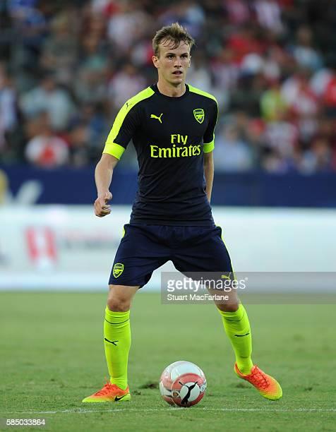 Rob Holding of Arsenal during the pre season friendly match between Arsenal and CD Guadalajara at StubHub Center on July 31 2016 in Carson California