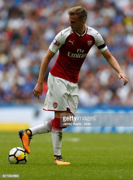Rob Holding of Arsenal during the The FA Community Shield between Chelsea and Arsenal at Wembley Stadium on August 6 2017 in London England