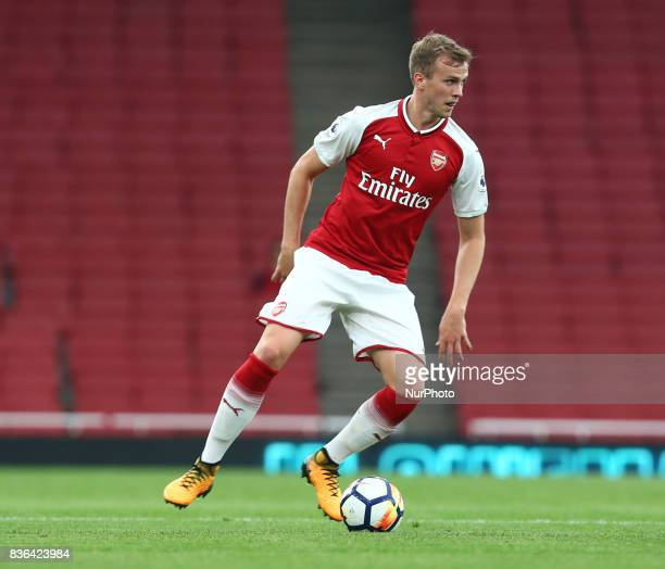 Rob Holding of Arsenal U23s during Premier League 2 match between Arsenal Under 23s against Manchester City Under 23s at Emirates Stadium London on...