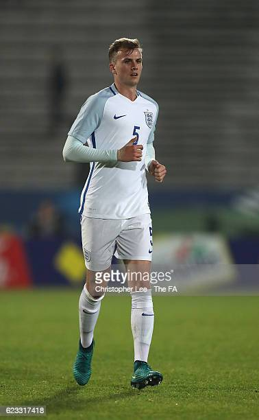 Rob Holding of England U21 in action during the U21 International Friendly match France U21 and England U21 at the Stade Robert Bobin on November 14...
