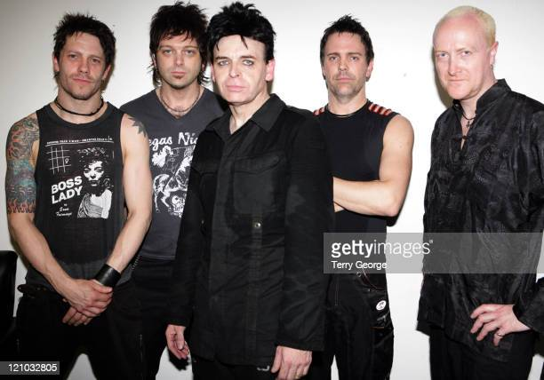 Rob Holliday David Brooks Gary Numan Richard Beasley and Adrian Crickmer *EXCLUSIVE*