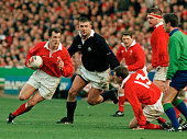 Rob Howley in action for Wales during the Five Nations Rugby Union International match between Scotland and Wales at Wembley Stadium in London on 7th...