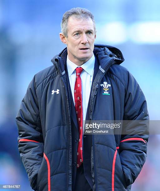 Rob Howley of Wales during RBS Six Nations match between Ireland and Wales at the Aviva Stadium on February 8 2014 in Dublin Ireland