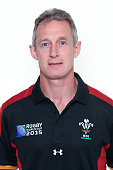 Rob Howley of Wales poses for a portrait during the Wales Rugby World Cup 2015 squad photo call on September 9 2015 in Cardiff Wales