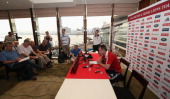 Rob Howley the Lions assistant coach talks to the media during the British and Irish Lions media conference held at the Hyatt Hotel on May 29 2013 in...
