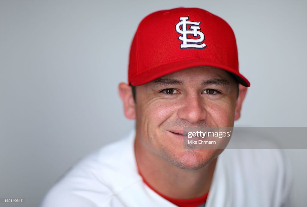 Rob Johnson #32 of the St. Louis Cardinals poses during photo day at Roger Dean Stadium on February 19, 2013 in Jupiter, Florida.