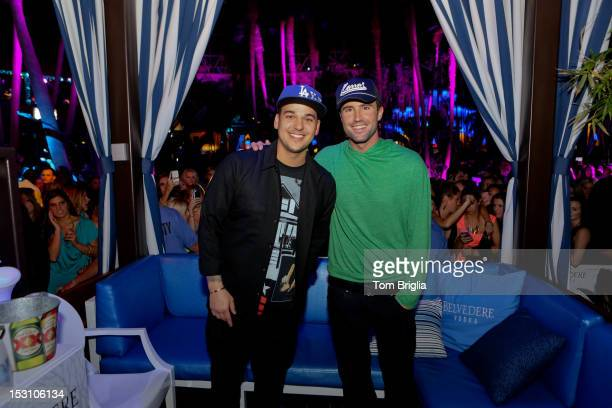 Rob Kardashian and Brody Jenner host The Pool After Dark at Harrah's Resort on Saturday September 29 2012 in Atlantic City New Jersey