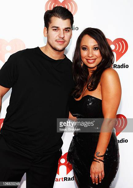 Rob Kardashian and Cheryl Burke poses in the press room at the iHeartRadio Music Festival held at the MGM Grand Garden Arena on September 24 2011 in...