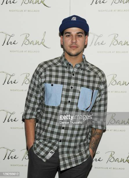 Rob Kardashian arrives at Bank Nightclub Bellagio Hotel And Casino Resort on October 14 2011 in Las Vegas Nevada