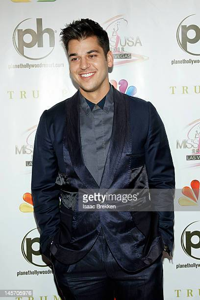 Rob Kardashian arrives at the 2012 Miss USA pageant the Planet Hollywood Resort Casino on June 3 2012 in Las Vegas Nevada