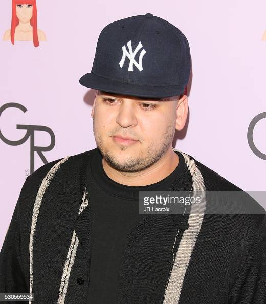 Rob Kardashian attends Blac Chyna's birthday celebration and unveiling of her 'Chymoji' Emoji Collection at Hard Rock Cafe on May 10 2016 in...