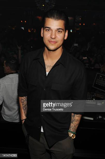 Rob Kardashian Celebrates his birthday at 1 Oak on March 16 2012 in Las Vegas Nevada
