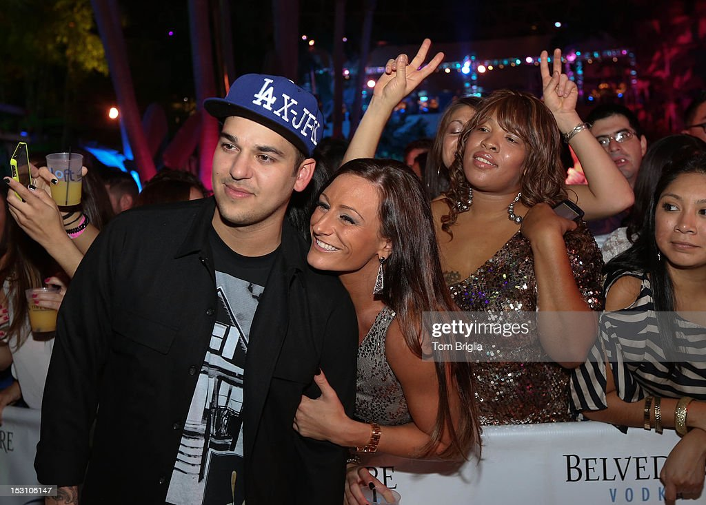 Rob Kardashian poses with fans while hosting The Pool After Dark at Harrah's Resort on Saturday September 29, 2012 in Atlantic City, New Jersey.