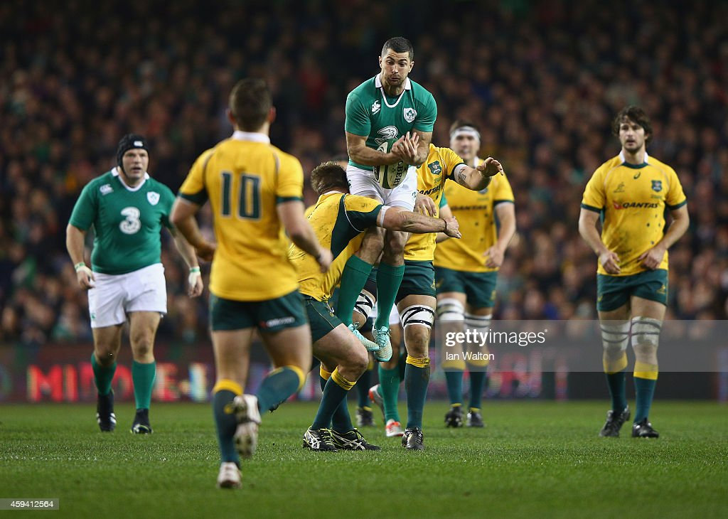 Rob Kearney of Ireland in action during the international friendly match between Ireland and Australia at Aviva Stadium on November 22 2014 in Dublin...