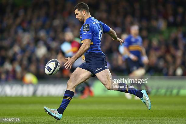 Rob Kearney of Leinster during the European Rugby Champions Cup Pool Two match between Leinster Rugby and Harlequins at the Aviva Stadium on December...