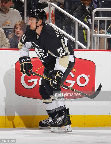 Rob Klinkhammer of the Pittsburgh Penguins skates against the Ottawa Senators at Consol Energy Center on December 6 2014 in Pittsburgh Pennsylvania