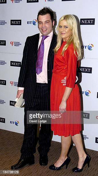 Rob Longrigg and Kate Lawler during Cystic Fibrosis Trust Breathing Life Awards Press Room at Royal Lancaster Hotel in London Great Britain