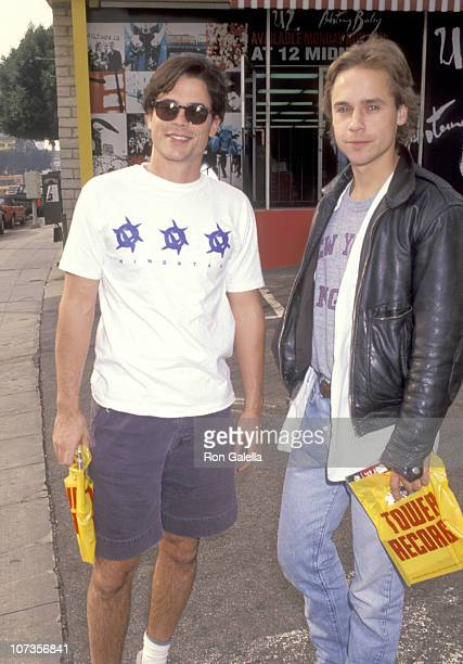 Rob Lowe and Chad Lowe during Rob Lowe and Chad Lowe Sighted at Tower Records in Los Angeles November 27 1991 at Tower Records in Los Angeles...