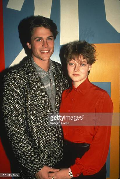 Rob Lowe and Jodie Foster circa 1984 in New York City