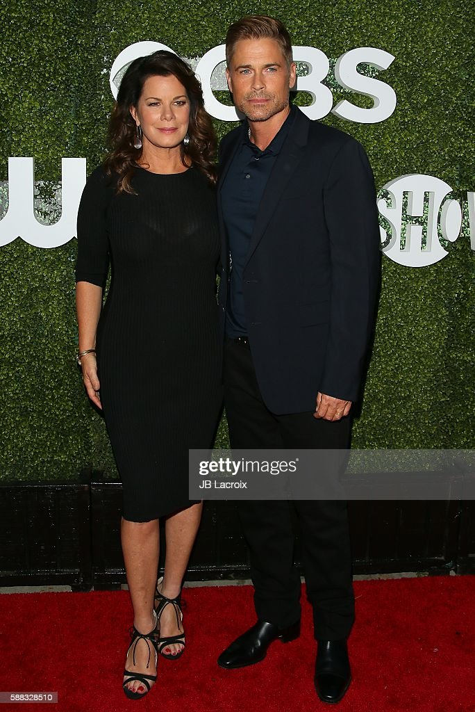 Rob Lowe and Marcia Gay Harden attend the CBS, CW, Showtime Summer TCA Party at Pacific Design Center on August 10, 2016 in West Hollywood, California.